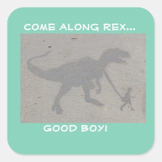 Boy's Best Friend Square Sticker