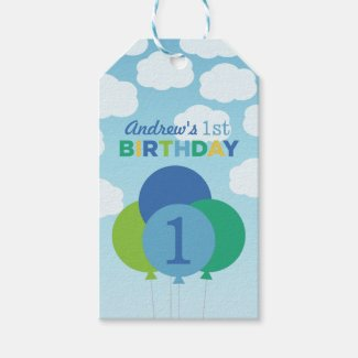 Boy's Birthday Favour Tags