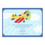 Boy's Birthday Invitation Cute Aeroplane