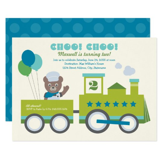 Boy's Birthday Party Invitation | Choo Choo Train