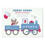 Boy's Birthday Party Invitation | Vintage Train 13 Cm X 18 Cm Invitation Card
