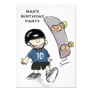 boys birthday party theme ideas 5x7 paper invitation card