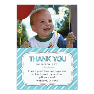 Boys birthday thank you card