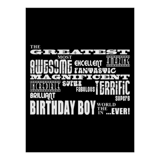 Boys Birthdays : Greatest Most Birthday Boy Print