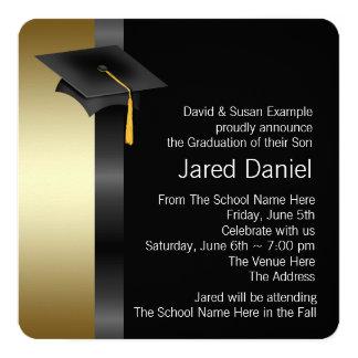 Boys Black and Gold Graduation Announcements