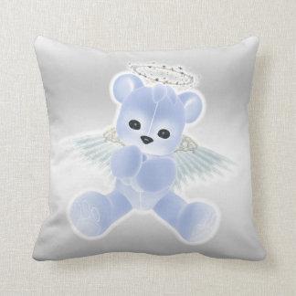 Boy's Blue Angel Teddy Bear Throw Pillows