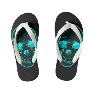 Boy's Blue Skull Flip Flops