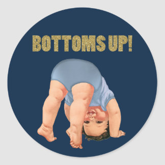 Bottoms Up Stickers | Zazzle.co.uk