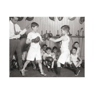 Boys' Boxing Club, 1925 Gallery Wrapped Canvas