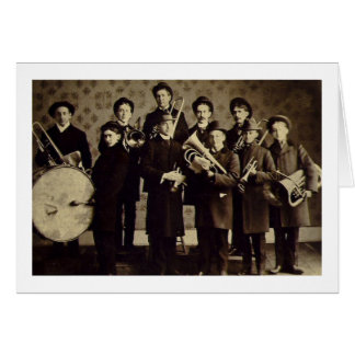 Boys Brass Band, Warsaw Indiana Vintage Card