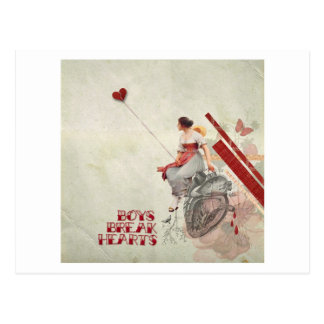 Boys Break Hearts Postcard