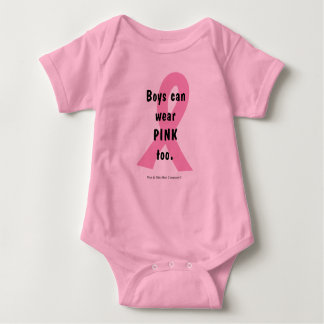 Boys can wear PINK too. Baby Bodysuit
