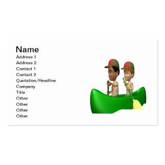 Boys Canoeing Business Card
