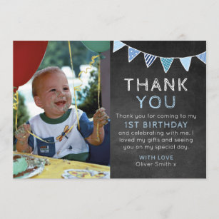 1st Birthday Notes Thank You Gifts Gift Ideas