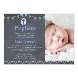 Boy Baptism Invitations Announcements Zazzlecouk