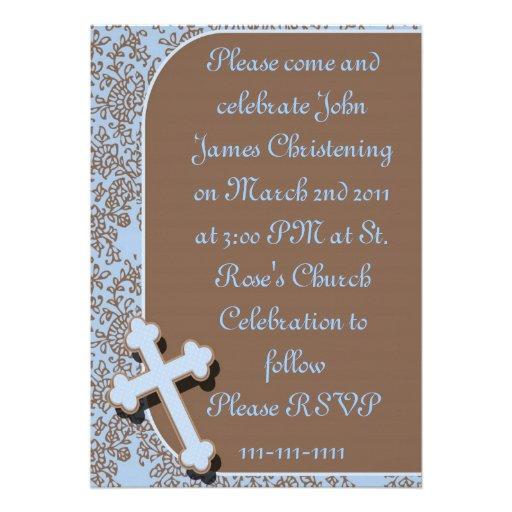 BOYS Christening / Baptism/Communion Invitations