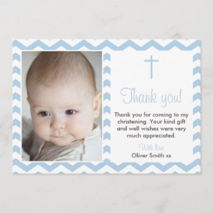 Baptism Thank You Cards Zazzle Uk