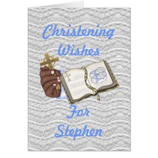 Boys Christenings Book Card