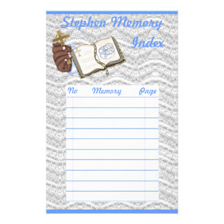 Boys Christenings Book Customized Stationery