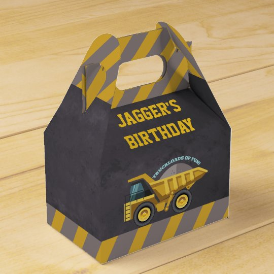 Boys Construction Theme Birthday Party Favour Box
