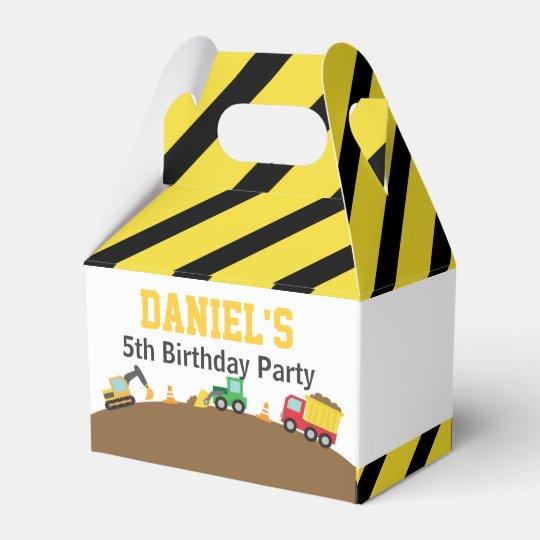 Boys Construction Vehicles Theme Birthday Party Wedding Favour