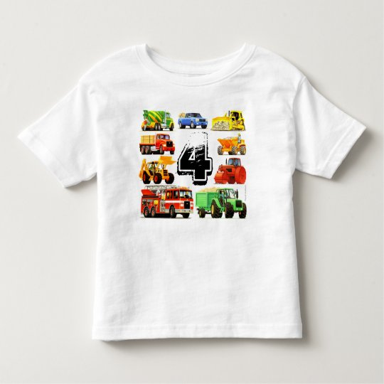 Boy's Custom Age Construction Truck 4th Birthday Toddler