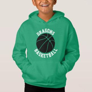Boys Custom Color Basketball Hoodie Sweatshirt