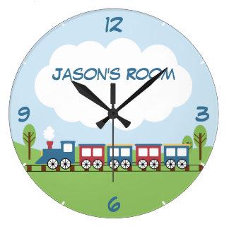 Boys Cute Train Wall Clock