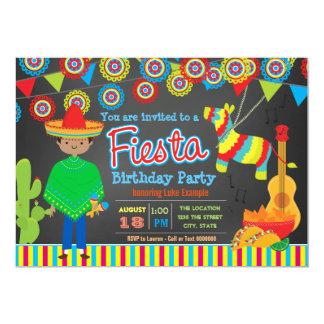Boys Fiesta Birthday Party 13 Cm X 18 Cm Invitation Card