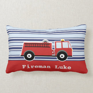 Boys Fire Engine Personalized Cushion