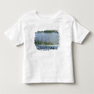 Boys fishing on Waterfowl Lake, Banff National Toddler T-Shirt
