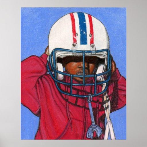 Boys Football Print / Poster ~ Ethnic ~ Sports