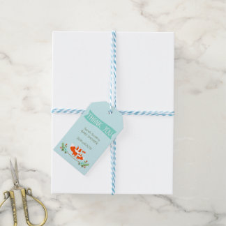 Boys Foxes Baby Shower Gift Tags