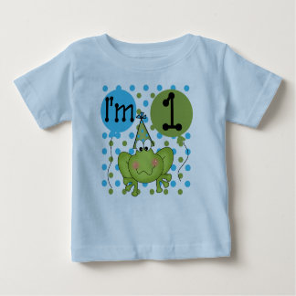 Boys Frog First Birthday Baby T-Shirt