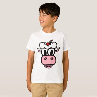 BOYS/ GIRLS THE ICE CREAM COW white T-Shirt