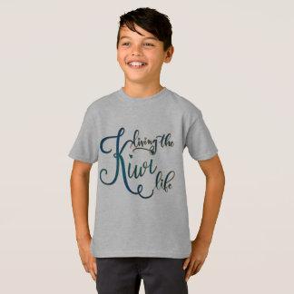 Boy's Grey T-Shirt - Living the Kiwi Life.