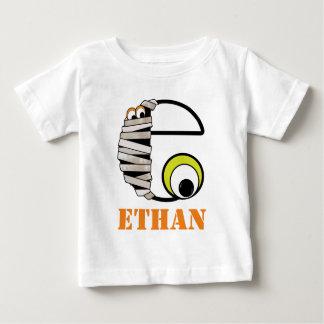 Boys HALLOWEEN Mummy Shirt w Monogram Initial e
