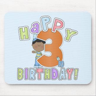 Boys Happy 3rd Birthday,African American Mousepad