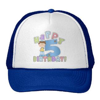 Boys Happy 5th Birthday Cap