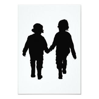 Boys Holding Hands Card 9 Cm X 13 Cm Invitation Card