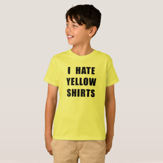 "Boy's ""I Hate Yellow Shirts"" yellow shirt"