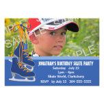 Boy's Ice Skating Party Custom Invite