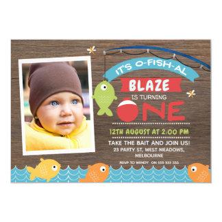 Boy's It's o-fish-al 1st Birthday Invitation