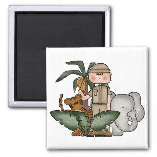 Boys Jungle Safari Tshirts and Gifts Magnets