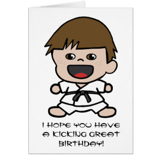 Boy's Karate Birthday Card