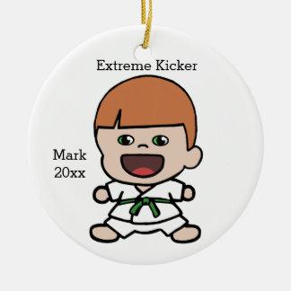 Boy's Karate Christmas Ornament
