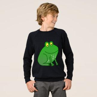 Boys Kids Cartoon Green Frog Sweater - Long Sleeve