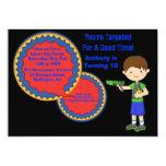 Boys Laser Tag Birthday Party Invitation