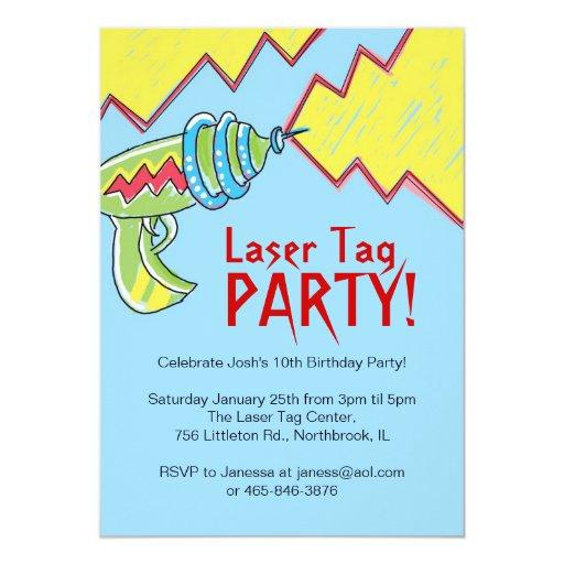 Boys Laser Tag Party Invitations