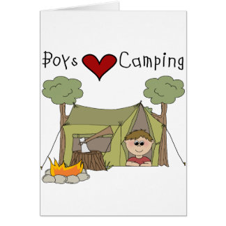 Boys Love Camping Card